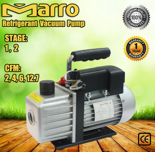 12Stage 24612.7CFM Refrigerant Vacuum Pump Refrigeration Tools Air Condition