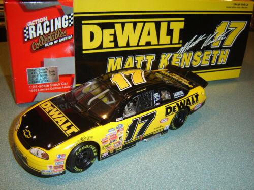 #17 Matt Kenseth /'99 Dewalt Action Monte Carlo Bgn 1//24 Selten 1//2500 Rcca Cwb