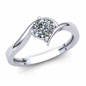 Genuine-1-4ctw-Round-Diamond-Ladies-Bridal-Solitaire-Engagement-Ring-10K-Gold