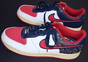 Details about NewOld Nike Air Force XXV AF 1 '82 N Philly Diamond & 25th Shoes Red White Blue