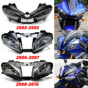 Front Headlight Assembly For Yamaha Yzf R6 Yzf R6 2003 2005 2006 2007 2008 2016 Ebay