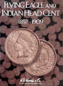 H-E-Harris-Indian-Head-amp-Flying-Eagle-Penny-Coin-Folder-1857-1909-2671