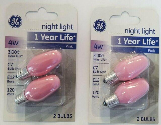 2-Pack Blue GE Lighting 26223 4-Watt Specialty C7 Incandescent Light Bulb