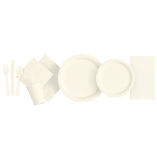 Plain Disposable Party TABLEWARE BBQ Events Catering Wedding Birthday 21 COLOURS