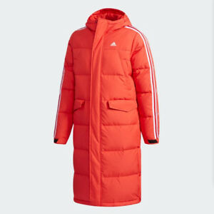Característica Para exponer cómo utilizar  New Adidas Mens 3STR LONG DUCK DOWN JACKET RED DT7919 PARKA PUFFER S - XL  TAKSE | eBay