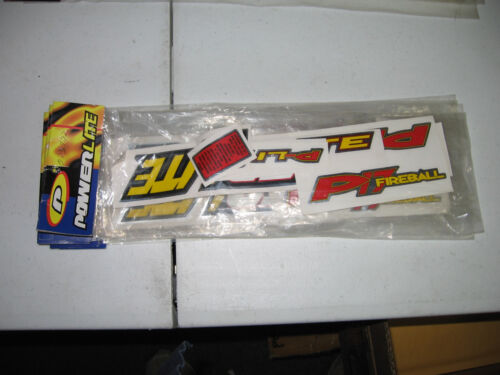 NOS OLD MID SCHOOL BMX POWERLITE P17 DECAL SET