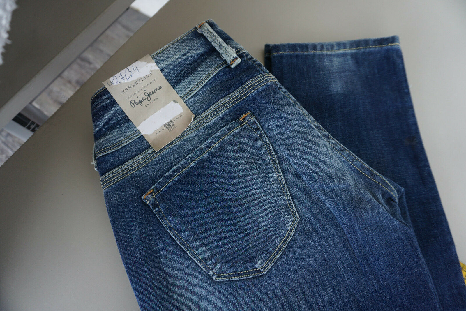 Pepe Jeans 40 Th Anniversary Ladies Stretch Trousers Stonewashed W27 L34 bluee