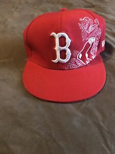 ee6276469 Details about NEW ERA 59FIFTY Boston Red Sox Fitted Hat Size 7 Cap Red