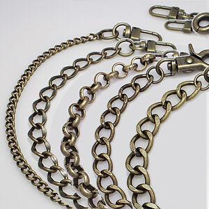 Purse chain strap Antique-gold handle shoulder crossbody handbag metal