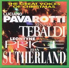 The GREAT VOICES of CHRISTMAS CD PAVAROTTI Tebaldi PRICE Sutherland 1994