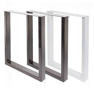 Tischgestell-Tischbein-U-Gestell-Esstisch-Schreibtisch-Tisch-Moebel-Loft-Stahl