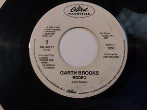 Garth-Brooks-Rodeo-VG-Original-45-RPM-7-034-Capitol-Nashville-Record-1991