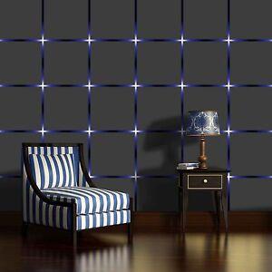 Das Bild Wird Geladen Vlies Fototapete Fototapeten Tapeten Tapete Quadrate Blau Sterne