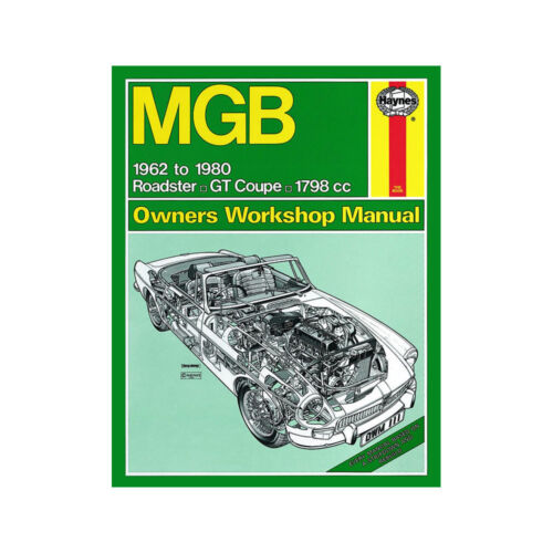 MGB Haynes Manual 1962-80 1.8 Petrol Roadster GT Coupe Workshop