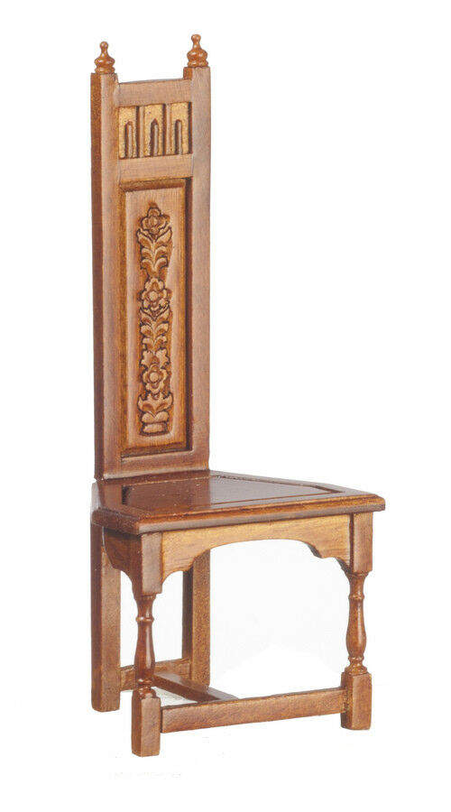 1/12 scale Dolls House Furniture   Carved Chair   JJ07031WN