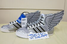 dfb332ac8415 ADIDAS ORIGINALS JEREMY SCOTT WINGS 2.0 SLIVER GERY FLY ZIP UK10.5 11US  LIMITED