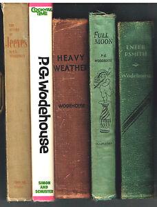 Set-of-5-P-G-Wodehouse-1958-1947-1933-1954-1935-Nice-Book-Set