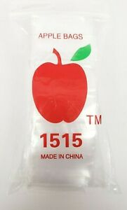 Clear Plastic Baggies Apple 2030-4 PACK LOT