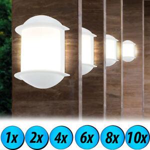 Led Haus Wand Lampe Garagen Beleuchtung Veranda Leuchten Weiss Aussen