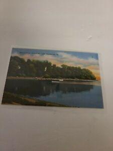 Linen Postcard VT Vermont Hydes Point Grant Isle Lake Champlain Boats - J-206