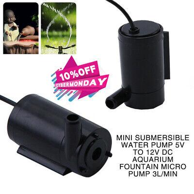 New DC 5V to 12V Mini Submersible Water Pump Aquarium Fountain Micro Pump 3L//min
