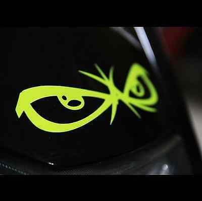 No Fear eyes helmet Motorcycle Vinyl Decal Sticker/_Yellow Fluo/_120 mm x 31 mm