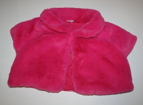 New Gymboree Faux Fur Pink Shrug Cardigan Jacket Size 7-8 Yr NWT Prima Ballerina