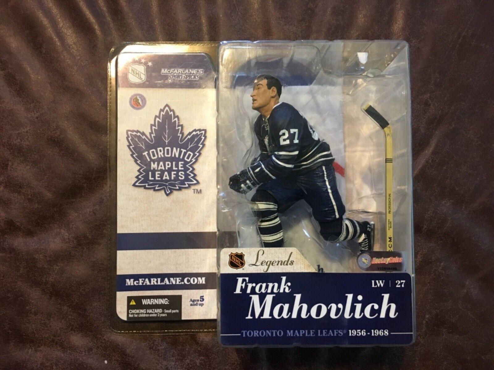 Blue Jersey NHL Sports Picks Legends Series 8 Terry Sawchuk Action Figure