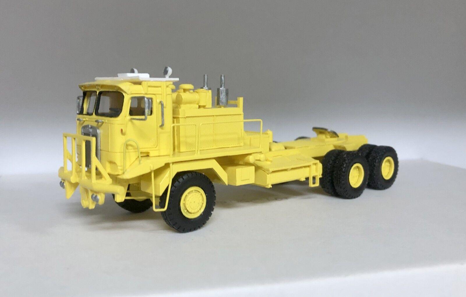 HO 1 87 Kenworth 993 COE Oilfield - giallo- Ready Made Resin Model