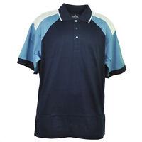 Red Jacket Collar Polo Blue Navy Button Dress Shirt Mens Adult Short Sleeve