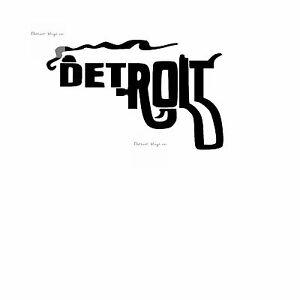 Detroit Pistol Detroit Gun Smoking Gun Vinyl Decal Sticker 4x6