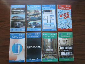Details about 8 MAPS Chicago USA Bus & Rail MAP CTA METRA PACE Subway MAP  U-Bahn Karte Mapa