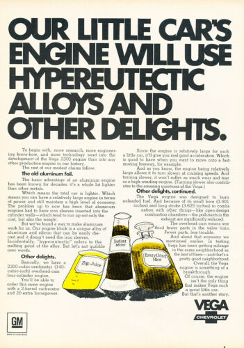 Classic Vintage Advertisement Ad D181 1970 Chevrolet Chevy Vega Juice