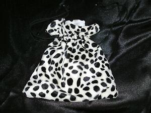 Dalmation-Bag-Cruella-Faux-Fur-Fancy-Dress-Accessory-NEW