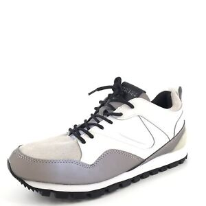 Image is loading Kenneth-Cole-Reaction-Late-Night-White-Leather-Gray-