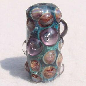 HAVASU-Handmade-Art-Glass-Focal-Bead-Flaming-Fools-Lampwork-Art-Glass-SRA