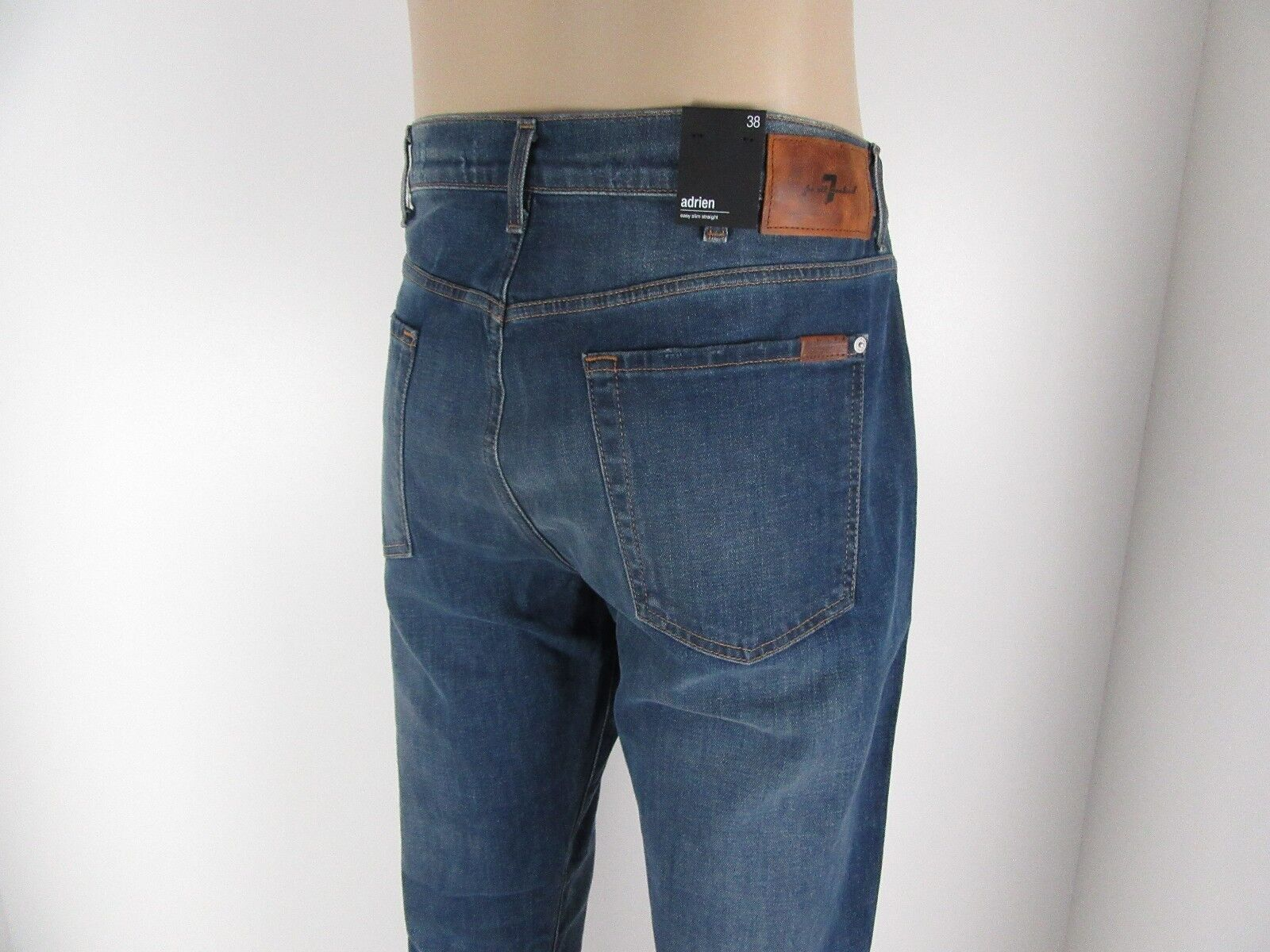 NWT 7 Seven For All Mankind ADRIEN, Easy Slim Straight Leg, WLKO, Size 38,