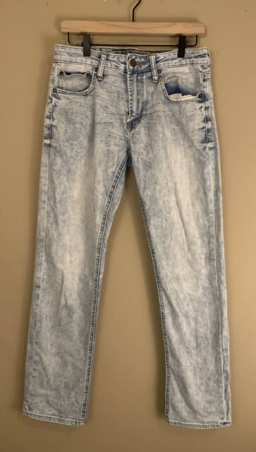 American Eagle Slim Straight Acid Wash Mens Jeans Size 31 X 32