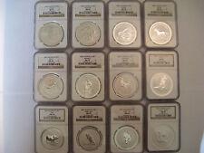 1999-2010 Australian Lunar Series 1,  1 oz Silver Full Set All Graded NGC MS 70