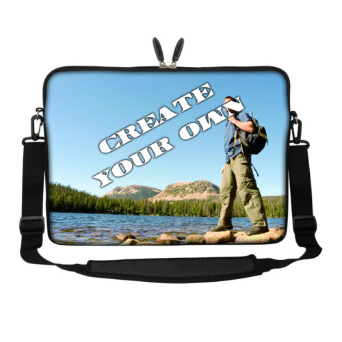 Customized Personalized Design Laptop Computer Sleeve Bag with Shoulder Strap