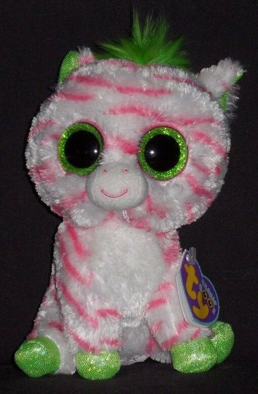 TY BEANIE BOOS - - - SAPPHIRE the ZEBRA - JUSTICE EXCLUSIVE - NEAR MINT TAG a17102