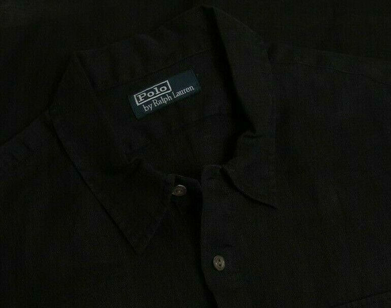 Polo Ralph Lauren Black Summer Cloth Linen Feel 2… - image 3