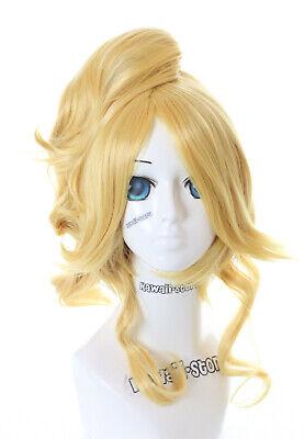 2019 Neuer Stil Pl-358 Eli Ayase Love Live Gelb Blond 70cm 2-tlg. Zopf Cosplay Perücke Wig Anime Eleganter Auftritt