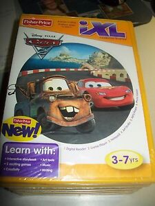 Disney-CARS-Fisher-Price-iXL-Learning-System-3-7-yrs-Boys-amp-Girls-CD-ROM-NEW