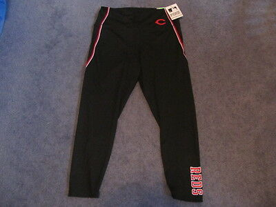 Zubaz MLB Baseball Women/'s Cincinnati Reds Team Color Tiger Print Leggings Pants