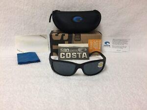 1cf45517eeeb5 NEW Costa Del Mar Zane Polarized Sunglasses Black Gray 580P ZN 11 ...