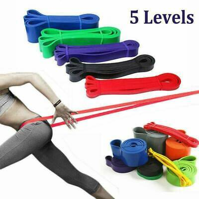 Resistance Band Heavy Duty Assisted Band Pull Up Fitness Exercise Loop Tube Set.