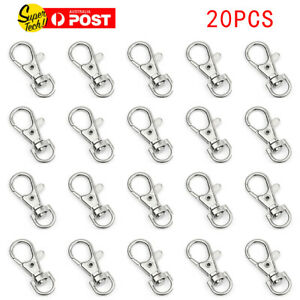 20pcs-Lobster-Clasp-Swivel-Trigger-Clip-Snap-Hook-Bag-Car-Key-Rings-Keychain