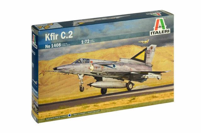 Italeri Kfir C.2 / C2 Kit Construcción 1:72 Art 1408 Aircraft Avión Lona