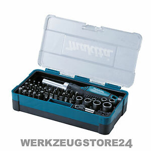 makita b 36170 ratschen bit set 47 tlg bitsatz f r akkuschrauber ebay. Black Bedroom Furniture Sets. Home Design Ideas